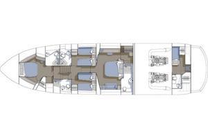75' Sunseeker 75 Yacht 2005 Lower Deck layout