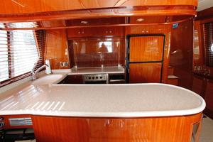 55' Hampton 558 Pilothouse 2006 Hampton 558 Pilothouse Counter Space Galley