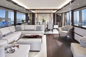 95' Sunseeker 95 Yacht 2019 Manufacturer Provided Image: Sunseeker 95 Yacht Saloon