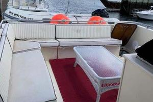 58' Hatteras Flybridge 1987 Flybridge Seating June 2018