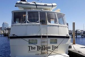 Hatteras-Flybridge-1987-The-Bottom-Line-Southwest-Harbor-Maine-United-States-Stern-View-914629