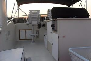 58' Hatteras Flybridge 1987 Bridge