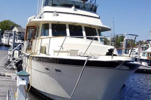 Hatteras-Flybridge-1987-The-Bottom-Line-Southwest-Harbor-Maine-United-States-Starboard-Bow-914632