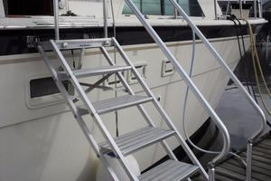 58' Hatteras Flybridge 1987 Boarding Ladder