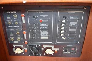 44' Marine Trader Tri Cabin 1978 Marine Trader 44 Classic Trawler Secondary Electrical Control/Generator Panel