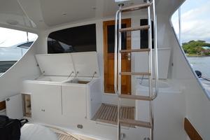 58' Buddy Davis 58 Sportfish Convertible 2003 Cockpit/Ladder