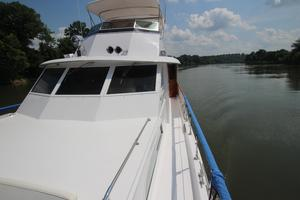 53' Hatteras 53 Motor Yacht 1973 Port Shot from Forward