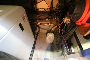 53' Hatteras 53 Motor Yacht 1973 Generator and Battery Room
