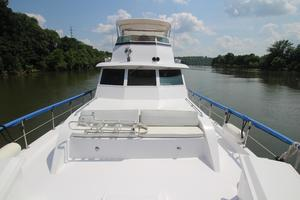 53' Hatteras 53 Motor Yacht 1973 Shot from Bow Aft