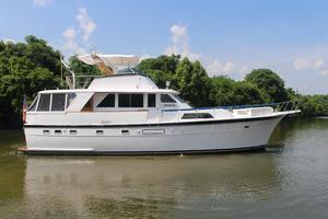 53' Hatteras 53 Motor Yacht 1973 Starboard Profile
