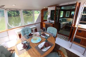 53' Hatteras 53 Motor Yacht 1973 Aft Deck from aft Starboard