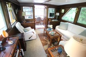 53' Hatteras 53 Motor Yacht 1973 Salon From Forward