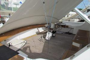 68' Hatteras Convertible 2005 Cockpit Port Aft View with Cover