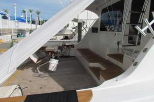 68' Hatteras Convertible 2005 Cockpit Port Mezzanine View