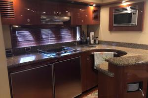 60' Sea Ray 60 Sundancer 2007 Galley w/ Hardwood Floors
