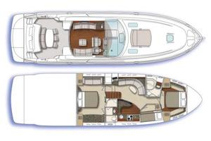 60' Sea Ray 60 Sundancer 2007 Vessel Layout