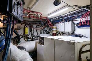 54' Hatteras Convertible 1995 Engine Room - Generator