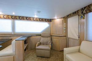 54' Hatteras Convertible 1995 Salon Aft