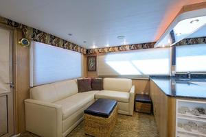 54' Hatteras Convertible 1995 Main Salon Settee