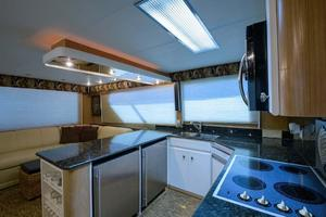 54' Hatteras Convertible 1995 Galley