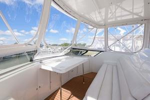 54' Hatteras Convertible 1995 Bridge Seating and Table