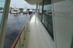 60' Hatteras Motor Yacht 1989 Port Side Deck Fwd