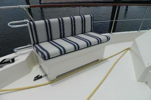 60' Hatteras Motor Yacht 1989 Foredeck Seating Port