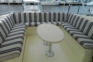 60' Hatteras Motor Yacht 1989 Flybridge Seating