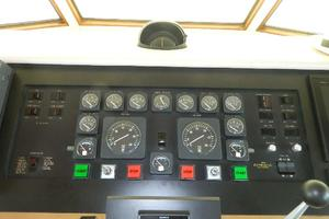 60' Hatteras Motor Yacht 1989 Lower Helm Gauges