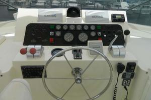 60' Hatteras Motor Yacht 1989 Upper Helm