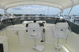 60' Hatteras Motor Yacht 1989 Flybridge Helm Seats