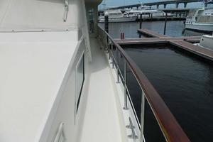 60' Hatteras Motor Yacht 1989 Port Side Deck Aft