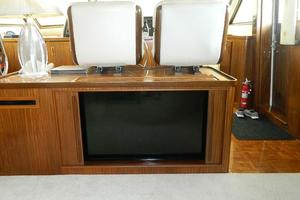 60' Hatteras Motor Yacht 1989 Salon Entertainment Center