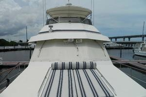 60' Hatteras Motor Yacht 1989 Looking Aft