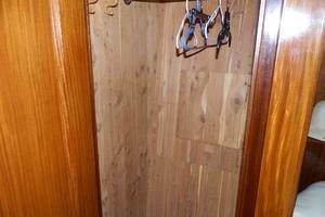 60' Hatteras Motor Yacht 1989 Guest Cedar Locker