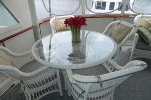 60' Hatteras Motor Yacht 1989 Aft Deck Dining