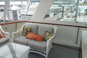 60' Hatteras Motor Yacht 1989 Aft Deck Port