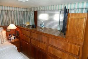 60' Hatteras Motor Yacht 1989 Master Stateroom Storage