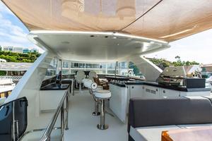 70' Ocean Alexander Evolution 2017 Upper deck with sunshade