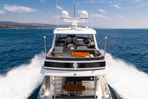70' Ocean Alexander Evolution 2017 Stern view of boat deck