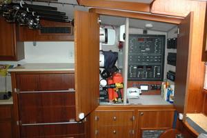 45' Gillikin Custom Carolina 45 Express 2009 Breaker Panel and Storage