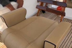 45' Gillikin Custom Carolina 45 Express 2009 Release Marine Teak Helm Chair