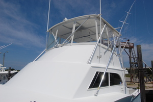 "46' Jarvis Newman 46 Custom Carolina Charter 1988 46' Jarvis Newman ""Cap'n B"", excellent flying bridge curtains"