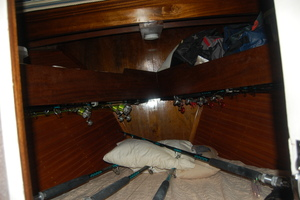 "46' Jarvis Newman 46 Custom Carolina Charter 1988 46' Jarvis Newman ""Cap'n B"", V-Berth with upper and lower bunks"