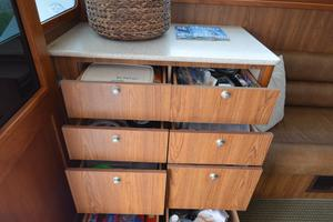 """46' Jarvis Newman 46 Custom Carolina Charter 1988 46' Jarvis Newman """"Cap'n B"""", port salon storage"""