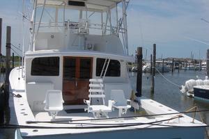 "46' Jarvis Newman 46 Custom Carolina Charter 1988 46' Jarvis Newman ""Cap'n B"",  in the slip"