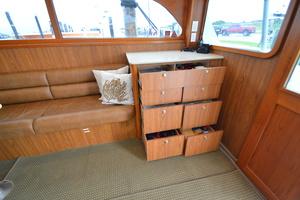 """46' Jarvis Newman 46 Custom Carolina Charter 1988 46' Jarvis Newman """"Cap'n B"""", stbd salon storage"""