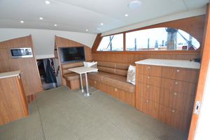 "46' Jarvis Newman 46 Custom Carolina Charter 1988 46' Jarvis Newman ""Cap'n B"", stbd side of salon"