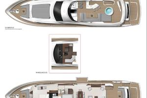 95' Sunseeker 95 Yacht 2017 5 Stateroom layout