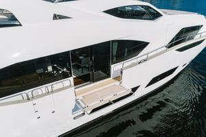 95' Sunseeker 95 Yacht 2017 Main Salon fold down Balcony with floor to ceiling